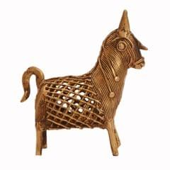 Purpledip Dhokra Art Horse Metal Statue With Feng Shui Vastu Significance; Unique Gift Showpiece (11247)