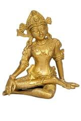 Purpledip Rain God Vastu Dev Indra Statue in Sitting Posture Indian Religious Gifts (11249)