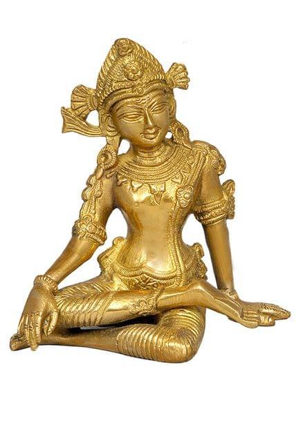 Purpledip Rain God Vastu Dev Indra Statue in Sitting Posture Indian Religious Gifts (11249)