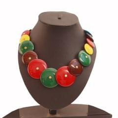 Purpledip Funky Necklace 'Gypsy Queen' With Colorful Beads For Women (30127)