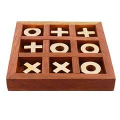 Wooden Tic-Tac-Toe (Noughts & Crosses) Game Set: Great Travel Gift For Kids Or Adults (11281)