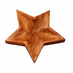 Wooden Serving Tray / Platter 'Twinkling Star': Small Plate For Snacks, Cookies, Fruits Or Aftermints (11292)