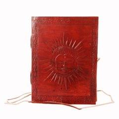 Leather Journal 'Sun God': Handmade Travel Diary Vintage Notebook (11296)