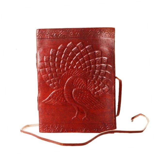 Leather Journal 'Rain Dance': Handmade Travel Diary Vintage Notebook (11297)