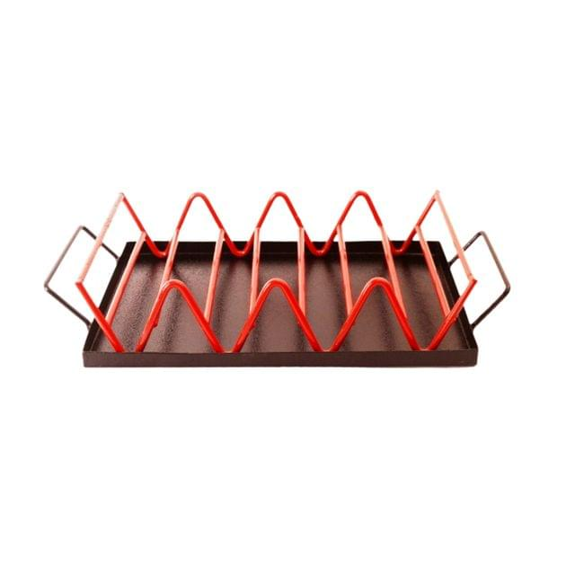 Iron Bread/Toast Serving Tray Stand: Unique Kitchen Dining Essential (11301)
