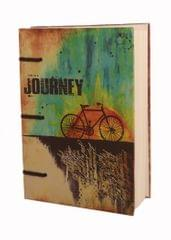 Purpledip Vintage Journal (Diary Notebook) 'Life Is A Journey': Handmade Paper Encased In Digital Print Hard Cover; Perfect Gift (11304)