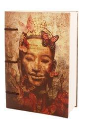 Purpledip Vintage Journal (Diary Notebook) 'Buddha Is Nature': Handmade Paper Encased In Digital Print Hard Cover; Perfect Gift (11306)