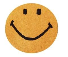 Purpledip Smiley Door Mat: Thick, Soft, Non-skid Floor Carpet Rug (11313b)