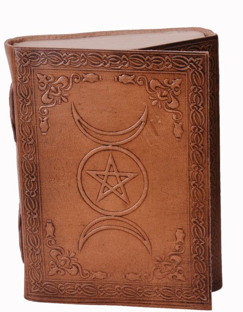 Leather Journal (Diary Notebook) 'Insha Allah': Handmade Paper In Leather Cover For Corporate Gift or Personal Memoir (11321)