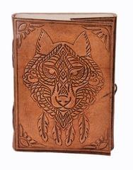Leather Journal (Diary Notebook) 'The Beast': Handmade Paper In Leather Cover For Corporate Gift or Personal Memoir (11322)