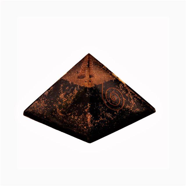 Black Tourmaline Orgone Pyramid: Good Luck Healing Charm, Divine Spiritual Crystal Stone (11344)