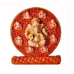 Ashta-vinayaka Ganesha Statue for Car Dashboard, Home Temple or Office Table (11375)
