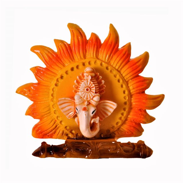 Surya Ganesha Statue: Unique Idol for Car Dashboard Home Temple or Office Table (11376)