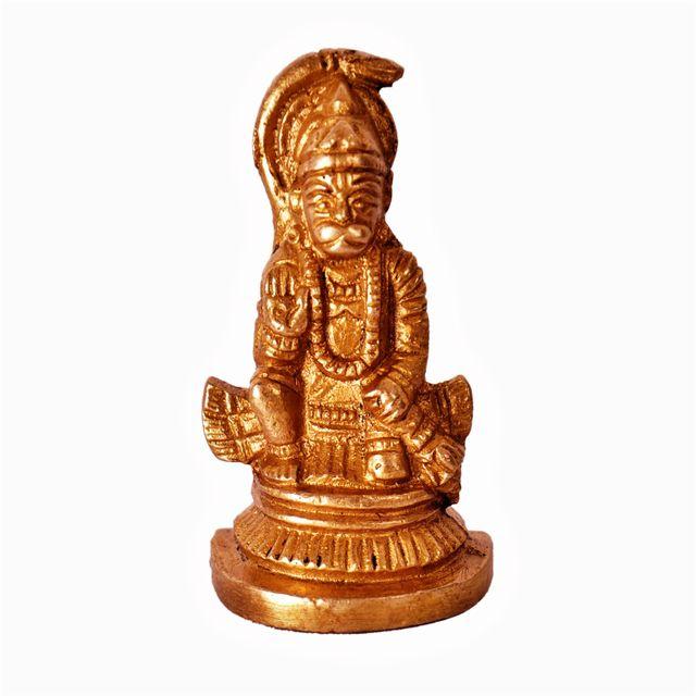 Mini Idol Lord Hanuman: Pure Brass Metal Statue for Home, Car or Office�(11389)