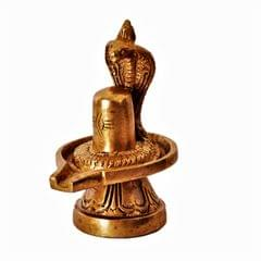 Brass Shivaling, Unversal Symbol of Lord Siva: Statue for Home, Car or Office�(11389)