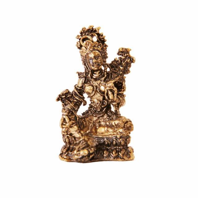 Rare Miniature Statue Green Tara, Unique Collectible Gift (11410)