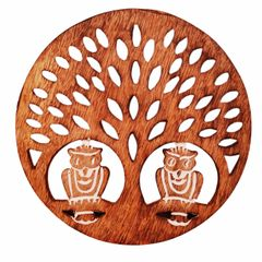 Wooden Trivet 'Night Forest' Coaster Hot Pad Mat for Dining Table, Kitchen  (11419)