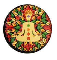 Purpledip Wooden Fridge Magnet: Buddha's Nirvana  (11461)