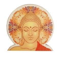 Purpledip Wooden Fridge Magnet: Omnipresent Buddha (11462)