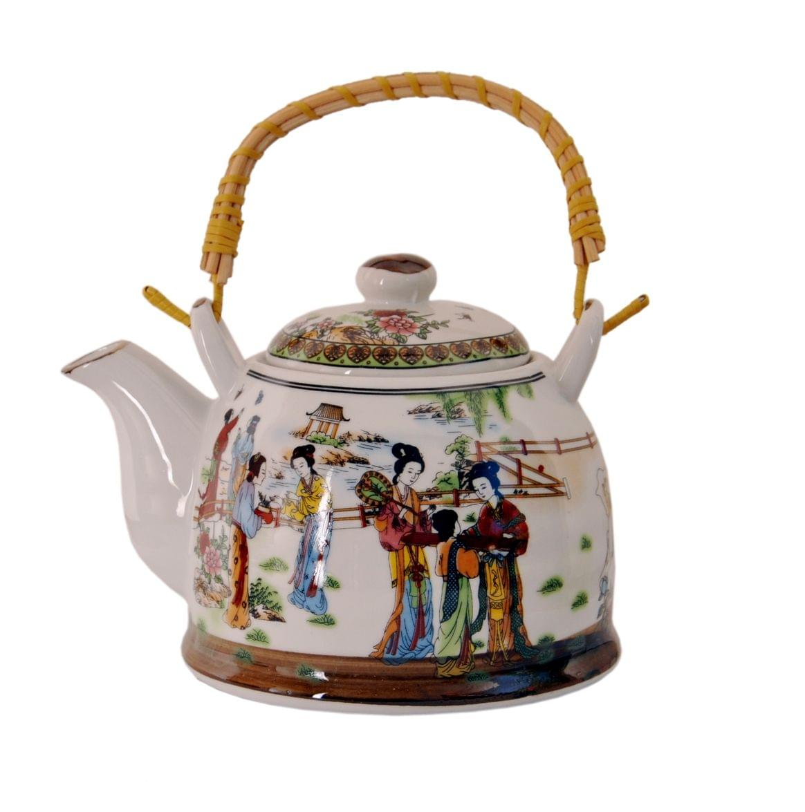 Decorative Watering Cans Purpledip Ceramic Fire Kettle Gossip Time 1l Tea Pot