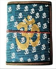 Purpledip Handmade Paper Journal 'Om, The Sound Of Vedas': Vintage Diary Notebook With Thread Closure (11489)
