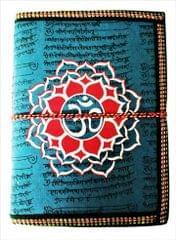 Purpledip Handmade Paper Journal 'Om Mandala': Vintage Diary Notebook With Thread Closure (11490)