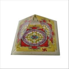 Purpledip Vastu Pyramid with Syllable Mantra, Shri Yantra, Vaastu Dosh Nivaaran Shri Sudarshan Yantra (11514)