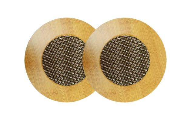 Purpledip Bamboo Heat Pads: Set of 2 Hot Mats (11525)