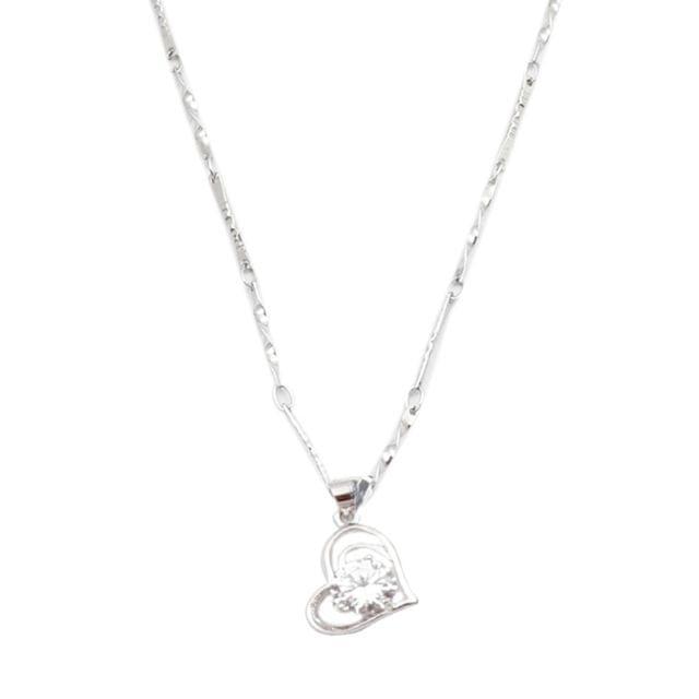 Purpledip Necklace 'Shining Heart': Designer Locket Pendant with Glittering Stone (30134)