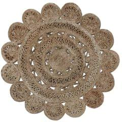 Jute Mat:  Circular Floor Bathroom Rug, Doormat or Wall Hanging (11564)