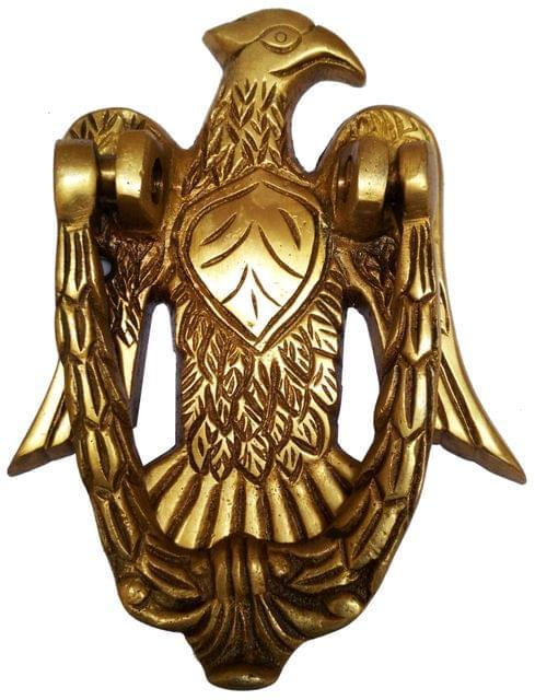 Brass Door Knocker: Antique Eagle Hawk Gate Handle (11593)