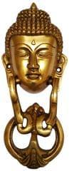 Brass Door Knocker: Antique Buddha Design Gate Handle (11595)