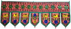 Purpledip Cotton Bandhanwar (Bandharwal/Toran): Door Hanging Window Valance Tapestry; Ethnic Indian Decor (11672)