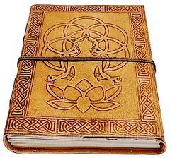 Purpledip Leather Journal 'The Yogi': Handmade Paper Diary for Corporate Gift or Personal Memoir (11739)