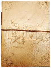 Purpledip Leather Journal 'Cupid's Strike': Handmade Paper Diary for Corporate Gift or Personal Memoir (11740)