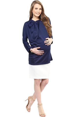 Maternity Skirt White Elegance
