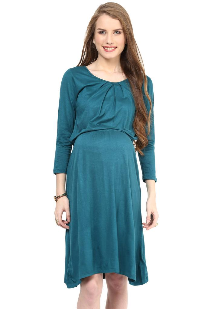 Maternity Dress Green Elegant