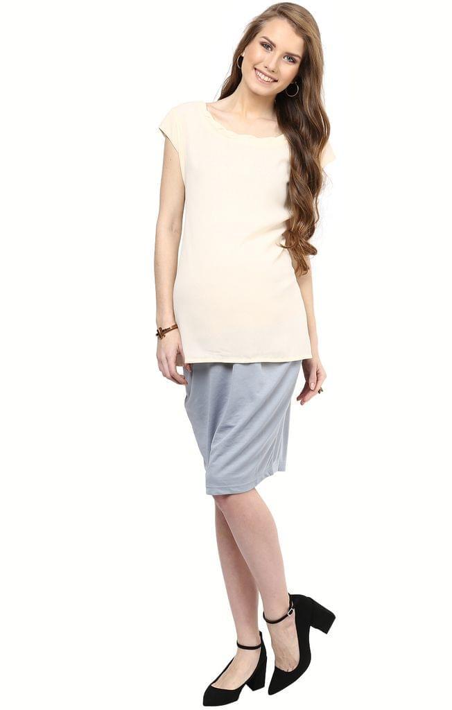 Maternity Skirt Formal Grey