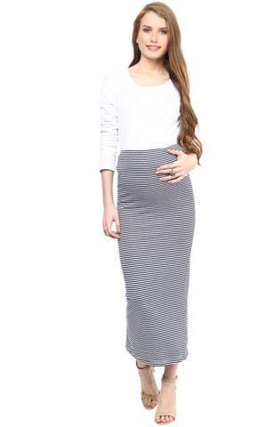 Maternity Skirt Long Striped