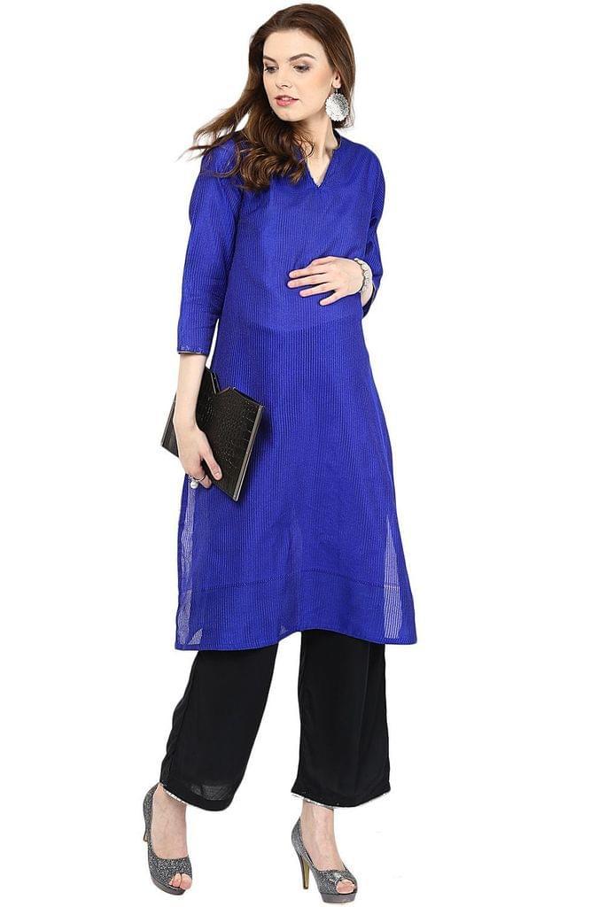 Maternity Kurta Royal Blue