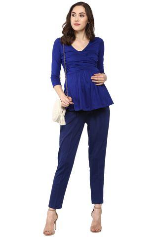 Maternity Pants Navy Formal