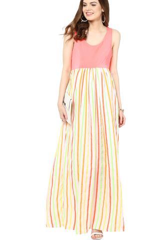 Maternity Maxi Neon Stripes