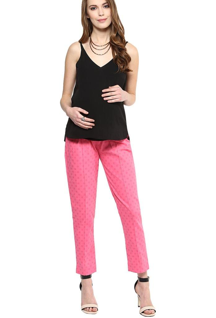 Maternity Pants Pinked Out