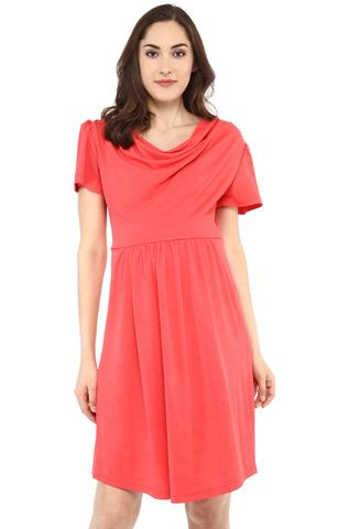 Maternity Dress Coral