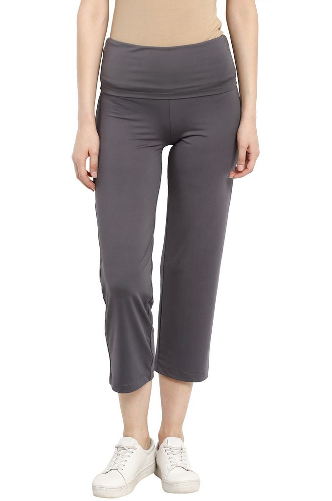 Maternity Track Pants Foldable Grey
