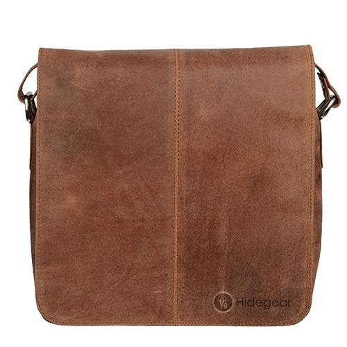 Hidegear Leather Messenger Bag ,MBMBTN0008D Tan
