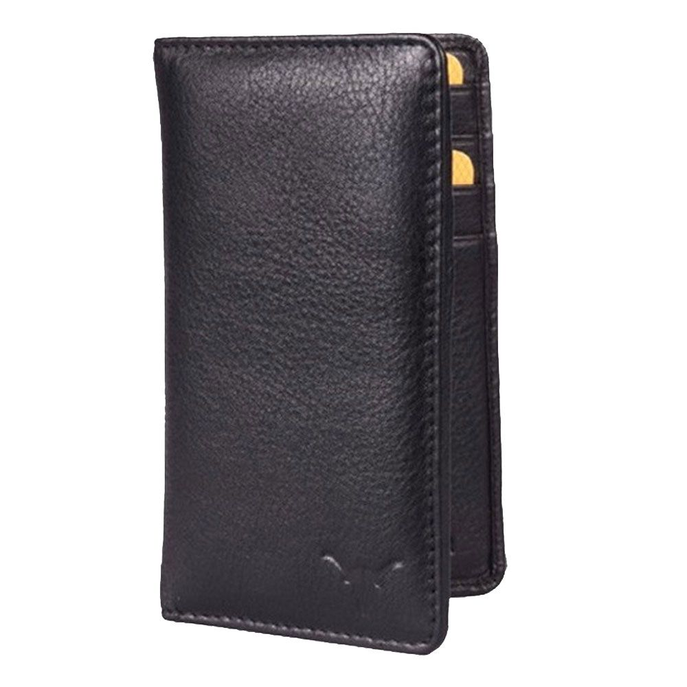 Hidekraft Leather Card Holder,CHBLPU0078 Black