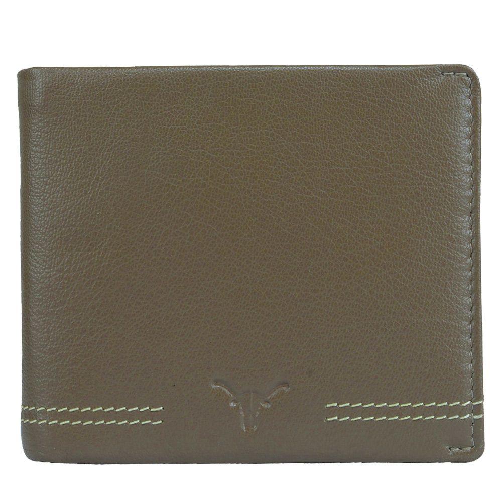 Hidekraft Men's Leather wallet, WLGYDU0346 Gray