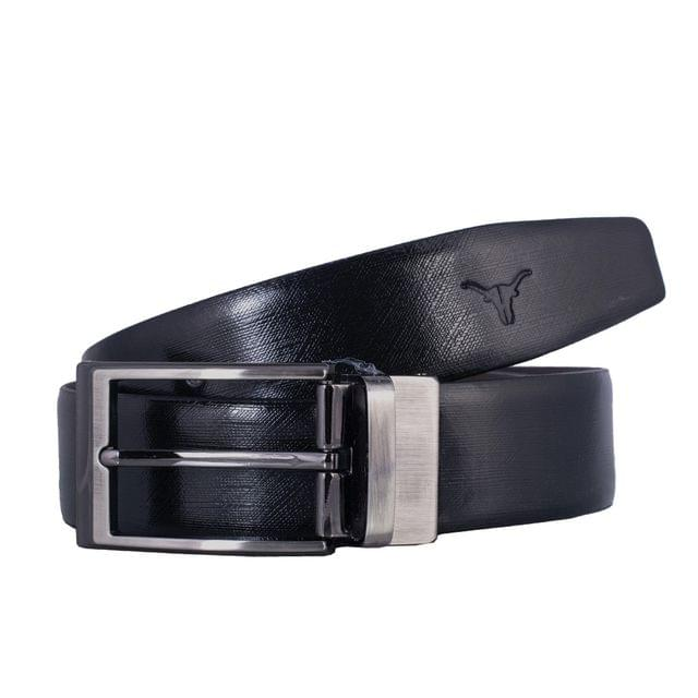 Hidekraft Genuine Leather Mens Formal Belt, BTBLBA0175, Black