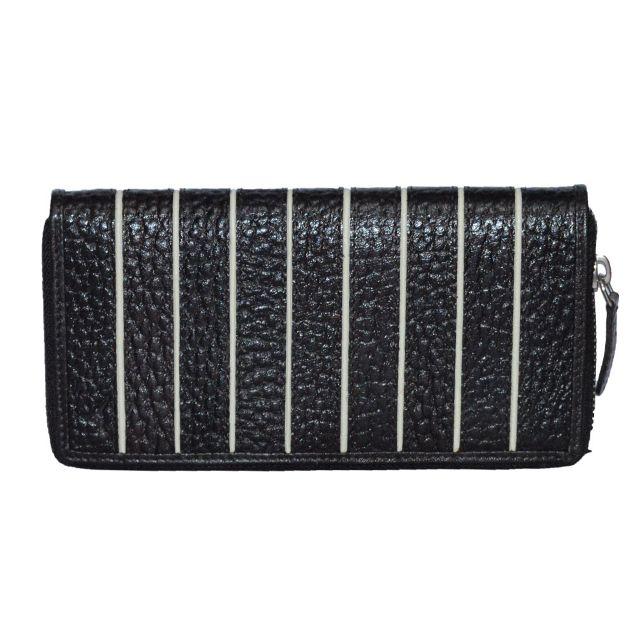 Hidekraft   Genuine Leather  women's Wallet, LDBLDU0519, Black